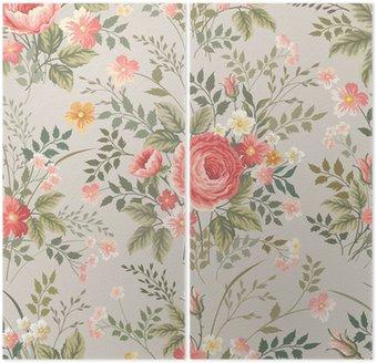 Dyptyk Jednolite kwiatowy wzór z różami