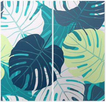 Dyptyk Jednolite wzór z liści palmowych