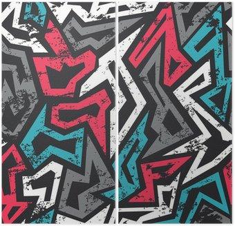Kolorowe grafitti szwu z mocą grunge