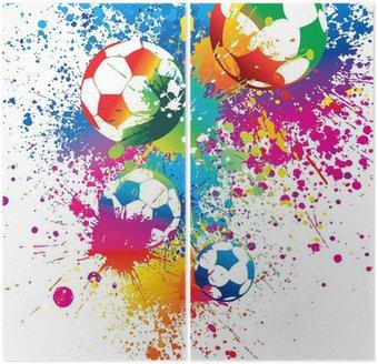 Dyptyk Kolorowe piłki na białym tle