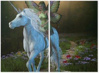 Dyptyk Las Fairy i Unicorn