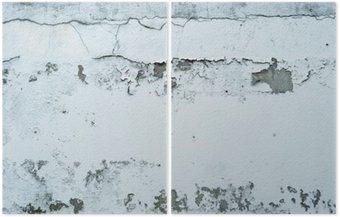 Dyptyk Łuszczącą się farbę na kamiennym murem