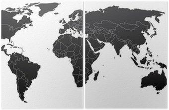 Dyptyk Mapa polityczna świata