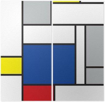 Dyptyk Mondrian inspirowane sztuką