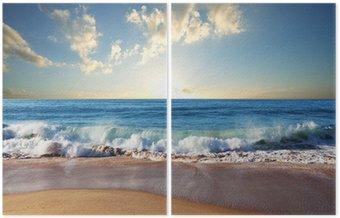 Dyptyk Morze zachód słońca