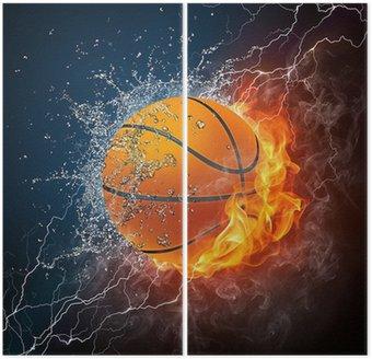 Dyptyk Piłka do koszykówki