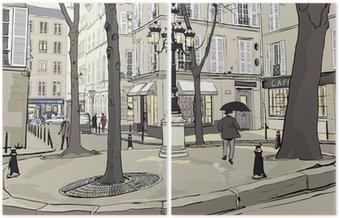 Dyptyk Plac furstemberg w Paryżu