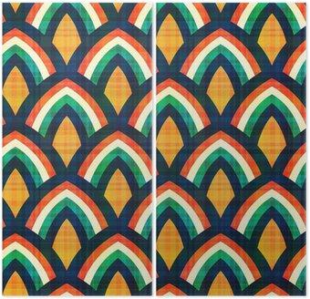 Dyptyk Powtarzalny abstrakcyjny wzór geometryczny