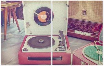 Retro stylizowany wizerunek starego gramofonu