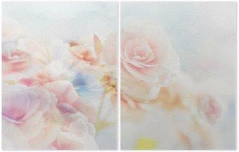 Dyptyk Romantic Roses w stylu vintage