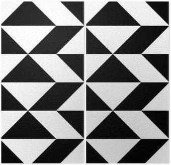 Dyptyk Seamless Wrapping Paper design. Streszczenie Nowoczesne Geometryczne Tło