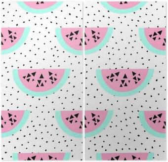 Dyptyk Seamless wzór arbuza