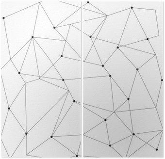Dyptyk Skandynawskich geometryczny nowoczesny szwu
