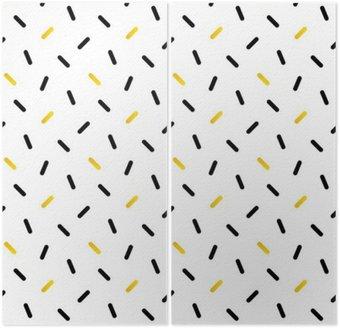 Dyptyk Śliczne czarne i złote konfetti, geometryczny wzór bez szwu tła.