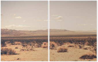 Dyptyk Southern California Desert