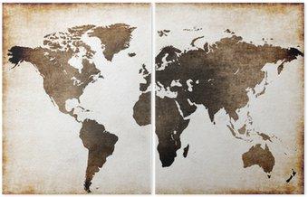 Dyptyk Stara mapa świata