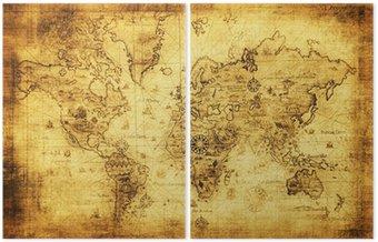 Dyptyk Starożytne mapy świata.