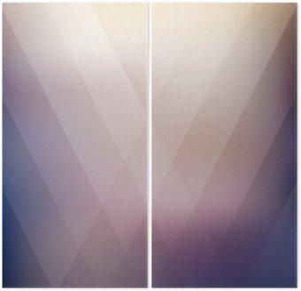 Dyptyk Streszczenie geometryczny fioletowy wielokątne tła. ilustracji wektorowych