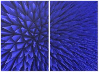 Dyptyk Streszczenie Poligon chaotyczny niebieskie tło