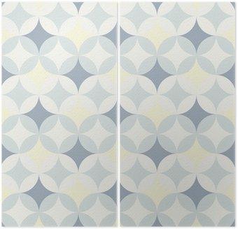 Dyptyk Streszczenie retro geometryczny wzór