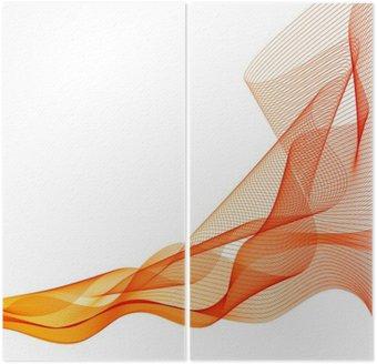 Streszczenie wektora pomarańczowe tło fala machnął linii