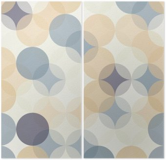 Dyptyk Wektor bez szwu kolorowe koła nowoczesne Geometria wzór, kolor abstrakcyjne geometryczne tło, tapeta druku, retro tekstury, projektowanie mody hipster, __