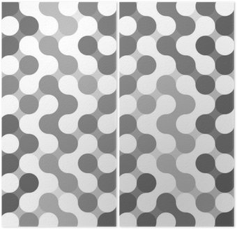 Dyptyk Wektor geometryczny wzór z kręgów.
