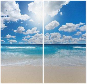 Dyptyk Wspaniały krajobraz plaża