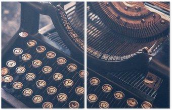 Dyptyk Zabytkowe maszyny do pisania