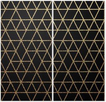 Dyptyk Złoto tekstury abstrakcyjne tło wakacje