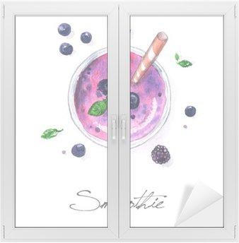 Fensteraufkleber Aquarell Lebensmittel Malerei - Smoothie