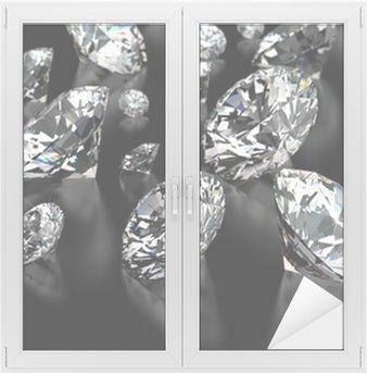 Fensteraufkleber Diamanten