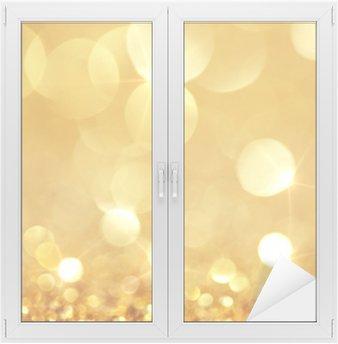 Fensteraufkleber Glänzende goldene Lichter