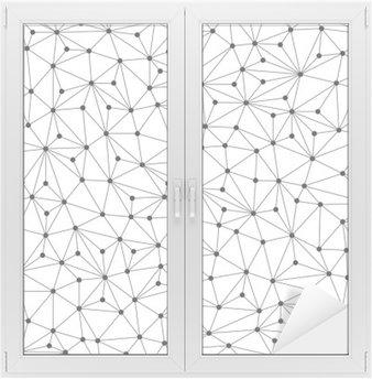 Fensteraufkleber Polygonal Hintergrund, nahtlose Muster, Linien und Kreise