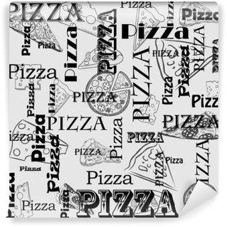Vinyl Fotobehang Обои, Меню для пиццерии и ресторанов. Изображение продукции.