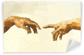 Vinyl Fotobehang Abstract Gods hand vector illustratie