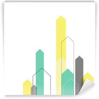 Vinyl Fotobehang Abstract Succes Concept. Groeiende pijlen Illustratie. Motion Up