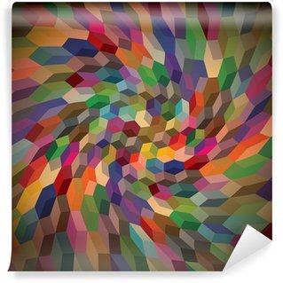 Vinyl Fotobehang Abstracte achtergrond van krullend kubussen, illustratie