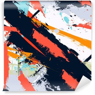 Vinyl Fotobehang Abstracte kunst grunge verontruste naadloos patroon