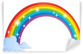 Vinyl Fotobehang Afbeelding met regenboog thema 1