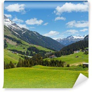 Vinyl Fotobehang Alpine view (Vorarlberg, Oostenrijk)