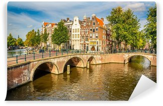 Vinyl Fotobehang Amsterdam stadsgezicht