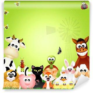 Vinyl Fotobehang Animals farm