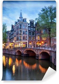 Vinyl Fotobehang Avond in Amsterdam