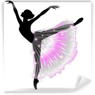 Vinyl Fotobehang Ballerina Danza Classica-klassieke dans danser-Vector Silhouet