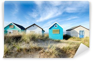 Vinyl Fotobehang Beach huts