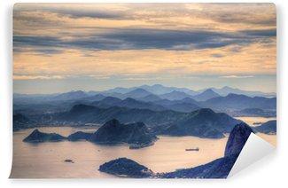Vinyl Fotobehang Bekijk op Sugarloaf Moutain in Rio de Janeiro