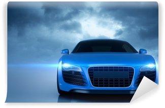 Vinyl Fotobehang Blauwe sport auto