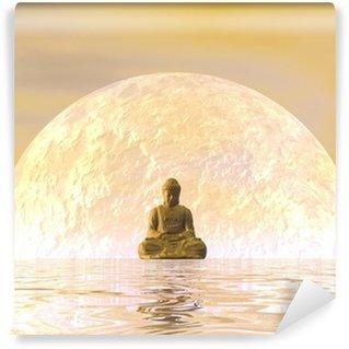 Vinyl Fotobehang Boeddha meditatie - 3D render