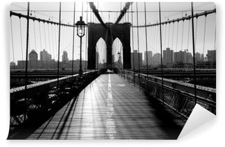 Vinyl Fotobehang Brooklyn Bridge, Manhattan, New York City, Verenigde Staten